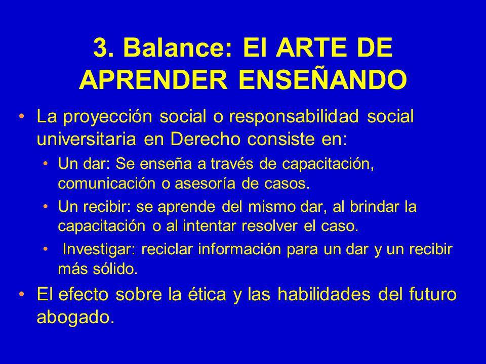 3. Balance: El ARTE DE APRENDER ENSEÑANDO
