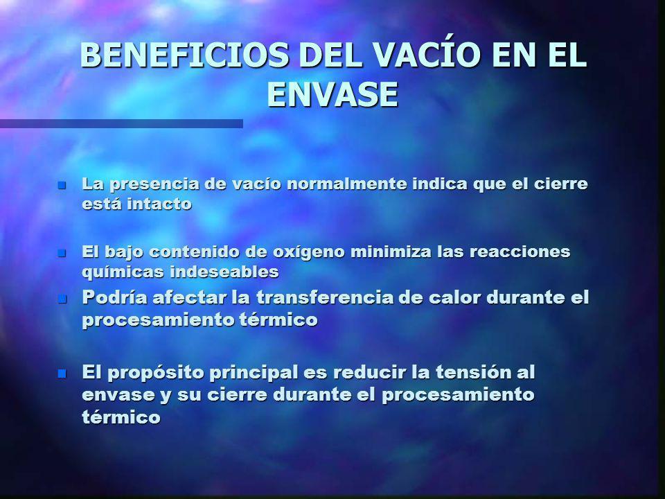 BENEFICIOS DEL VACÍO EN EL ENVASE