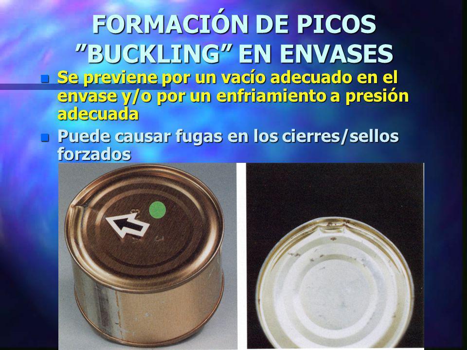 FORMACIÓN DE PICOS BUCKLING EN ENVASES