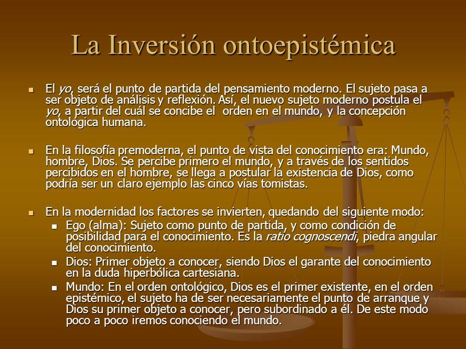 La Inversión ontoepistémica