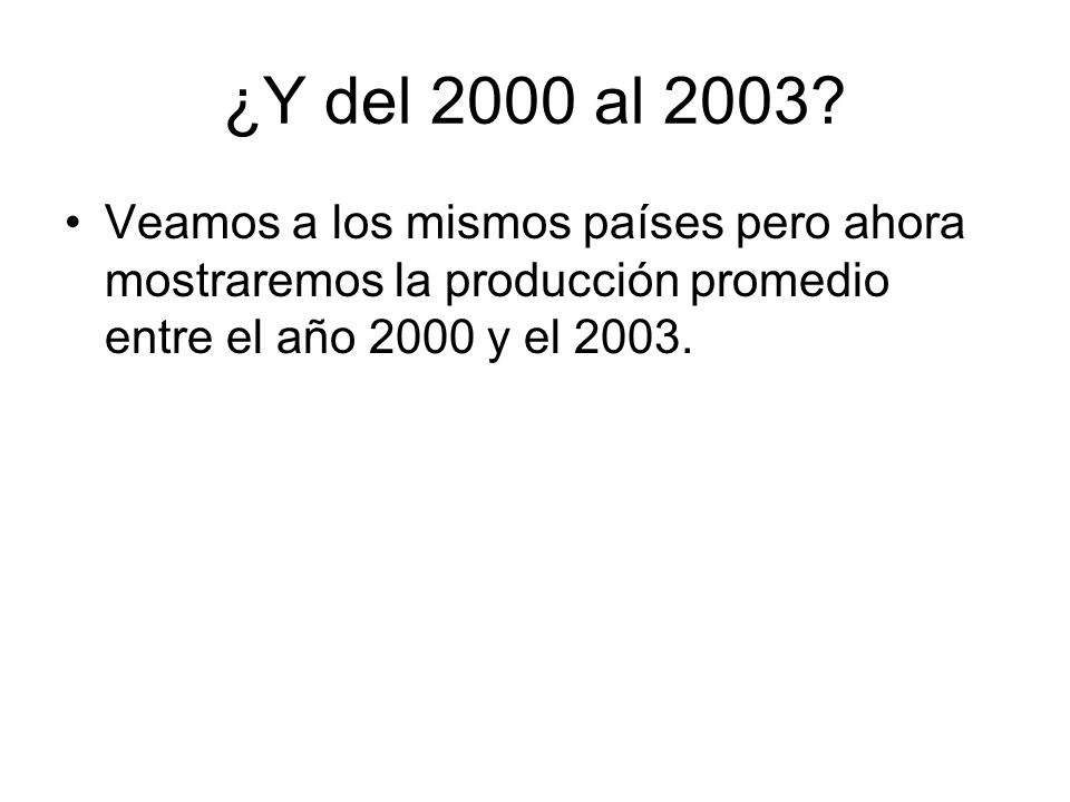 ¿Y del 2000 al 2003.