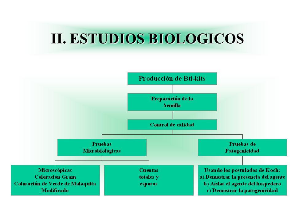 II. ESTUDIOS BIOLOGICOS