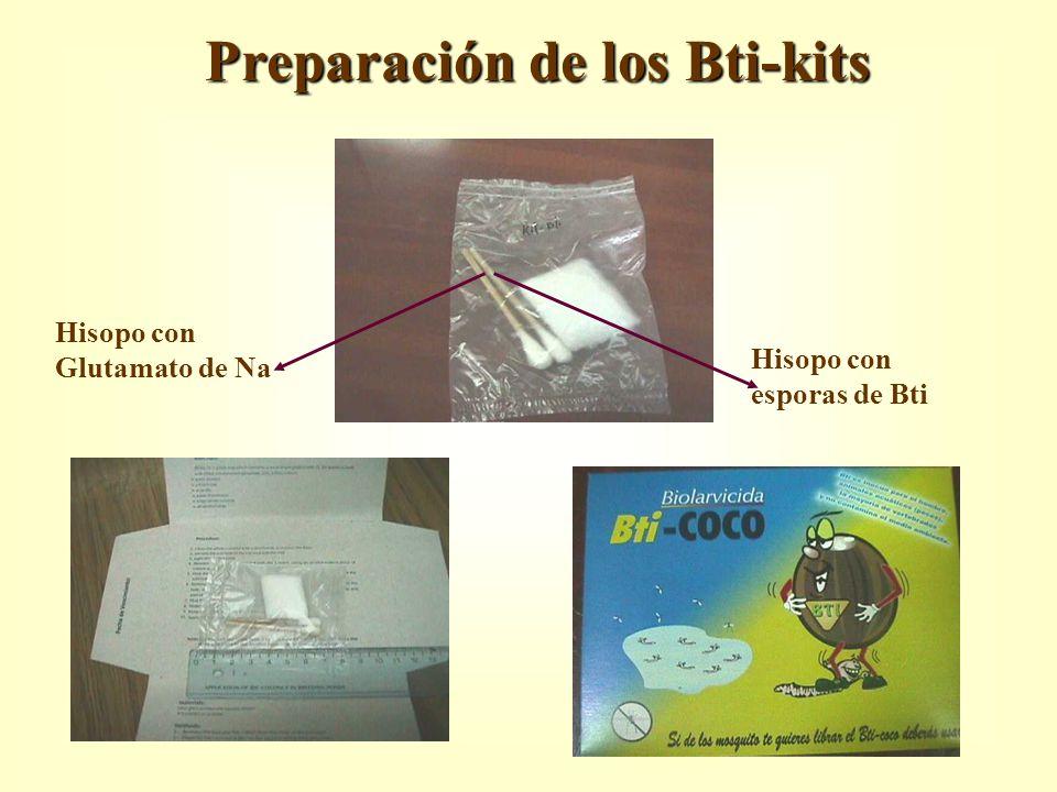 Preparación de los Bti-kits