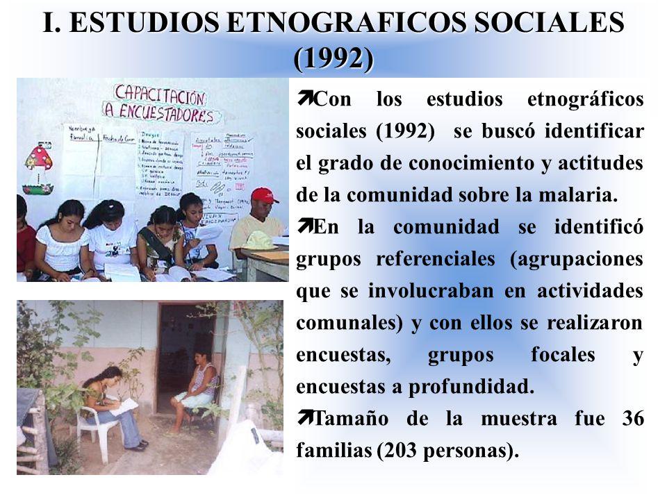 I. ESTUDIOS ETNOGRAFICOS SOCIALES (1992)