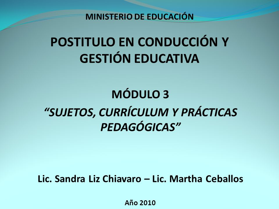 POSTITULO EN CONDUCCIÓN Y GESTIÓN EDUCATIVA