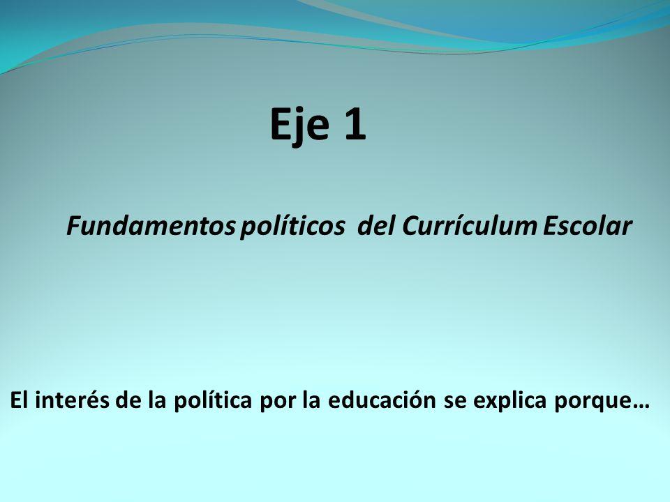 Eje 1 Fundamentos políticos del Currículum Escolar