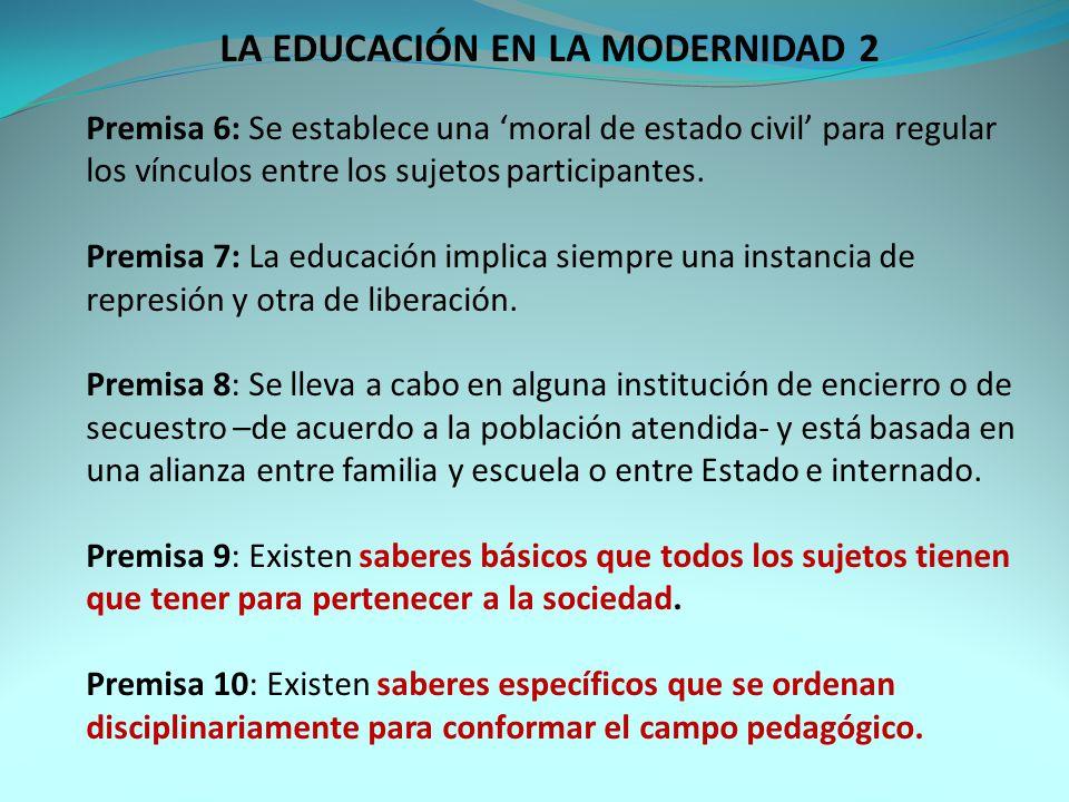 LA EDUCACIÓN EN LA MODERNIDAD 2