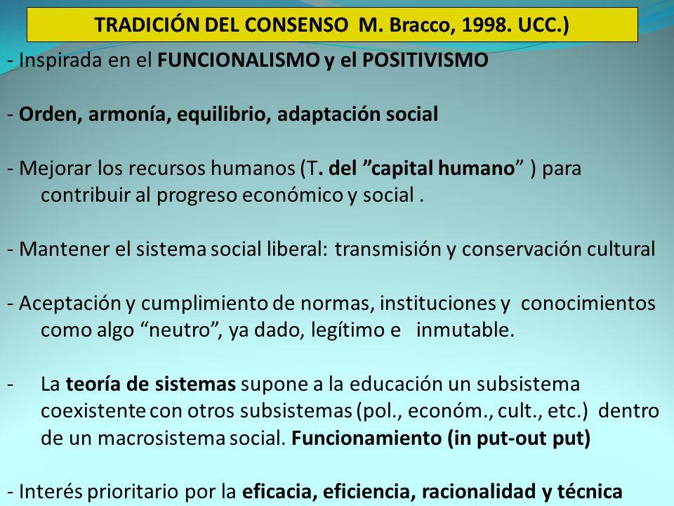 TRADICIÓN DEL CONSENSO M. Bracco, 1998. UCC.)