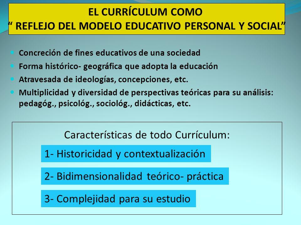 EL CURRÍCULUM COMO REFLEJO DEL MODELO EDUCATIVO PERSONAL Y SOCIAL