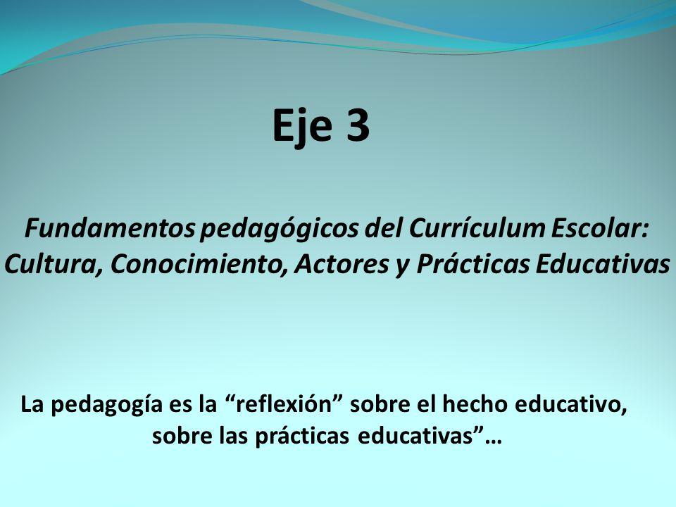 Eje 3 Fundamentos pedagógicos del Currículum Escolar:
