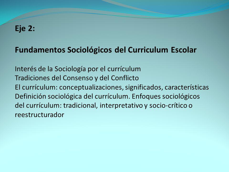 Fundamentos Sociológicos del Curriculum Escolar