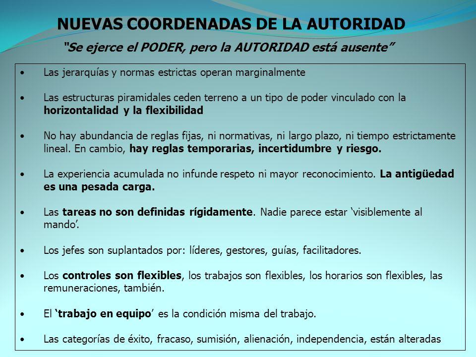 NUEVAS COORDENADAS DE LA AUTORIDAD