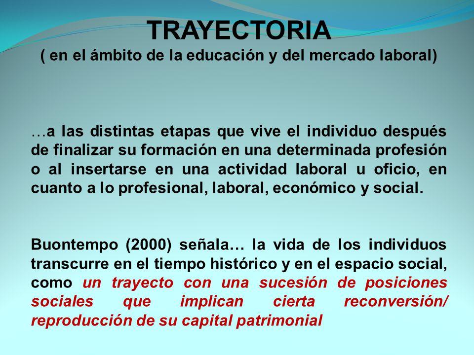 ( en el ámbito de la educación y del mercado laboral)
