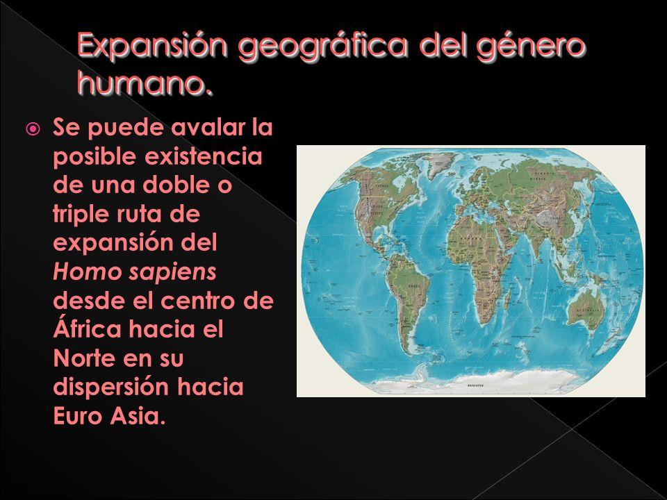 Expansión geográfica del género humano.