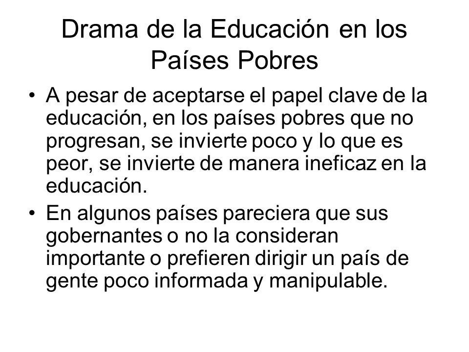 Drama de la Educación en los Países Pobres