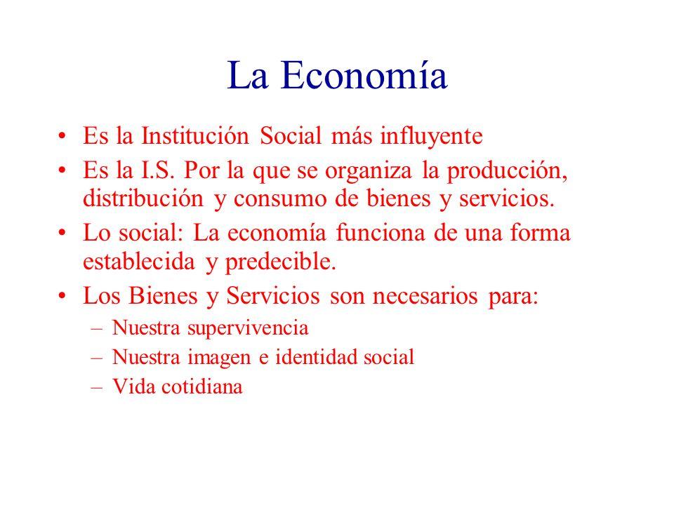 La Economía Es la Institución Social más influyente