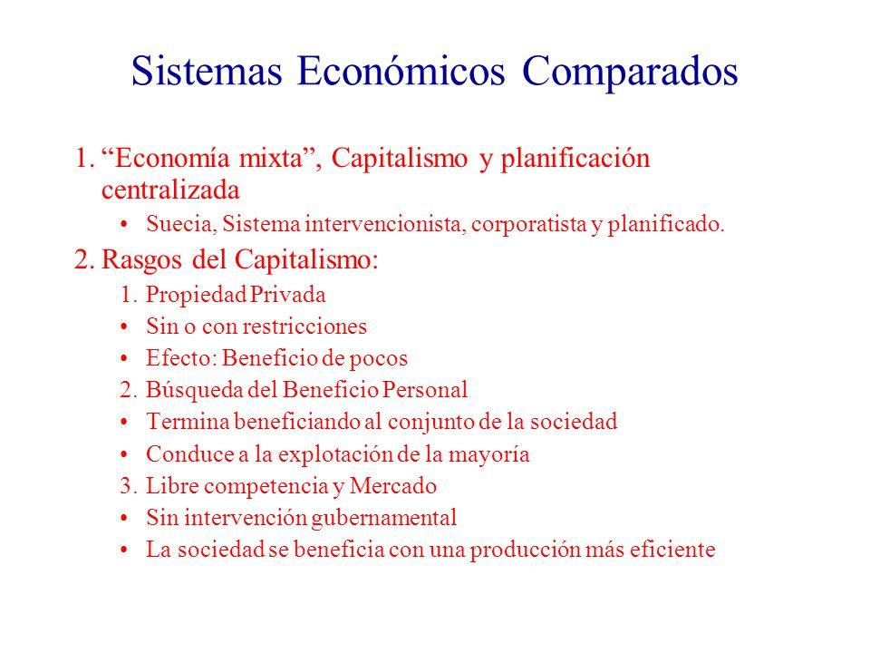 Sistemas Económicos Comparados