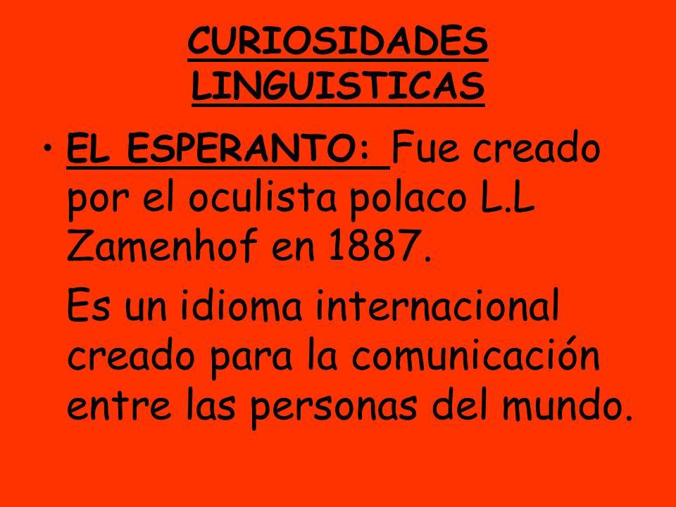 CURIOSIDADES LINGUISTICAS