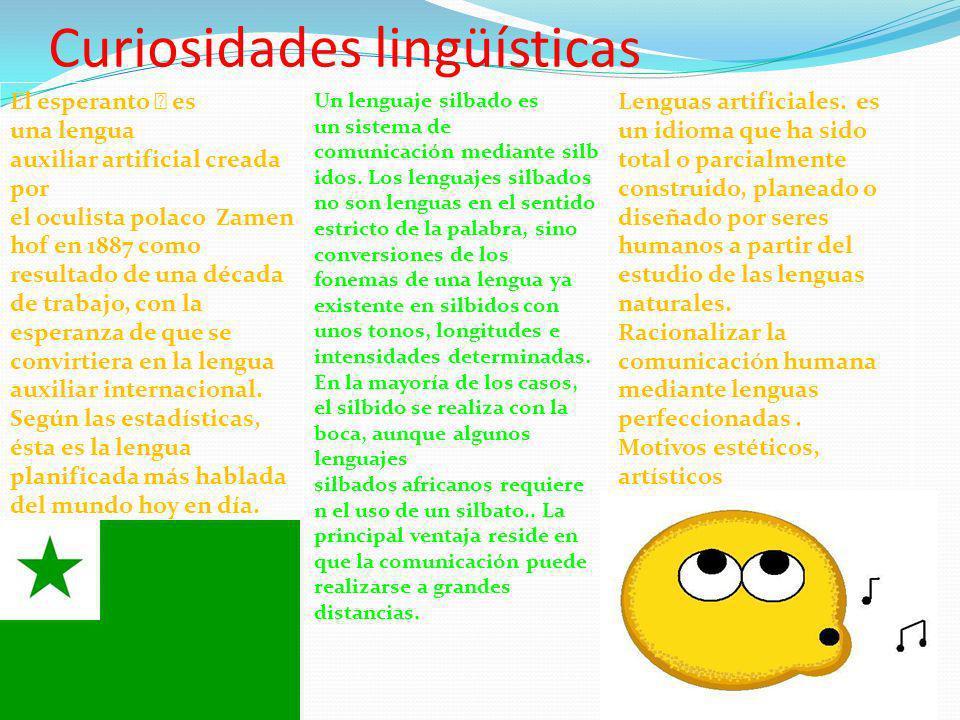Curiosidades lingüísticas