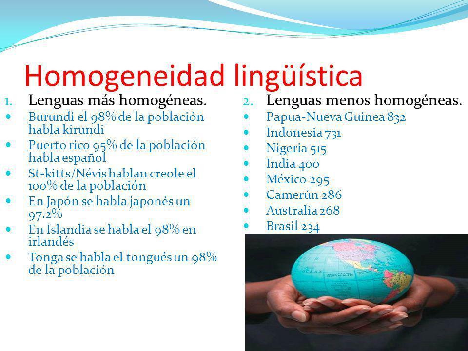 Homogeneidad lingüística