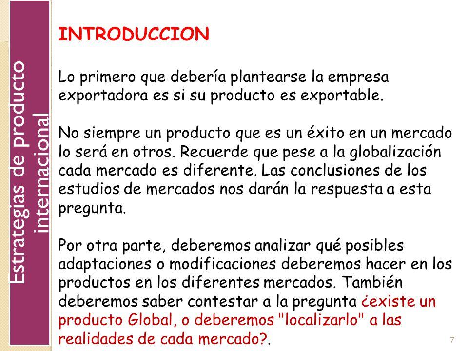 Estrategias de producto internacional