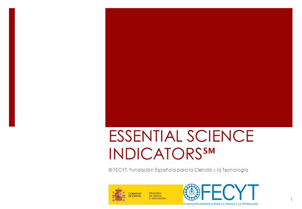 ESSENTIAL SCIENCE INDICATORS℠