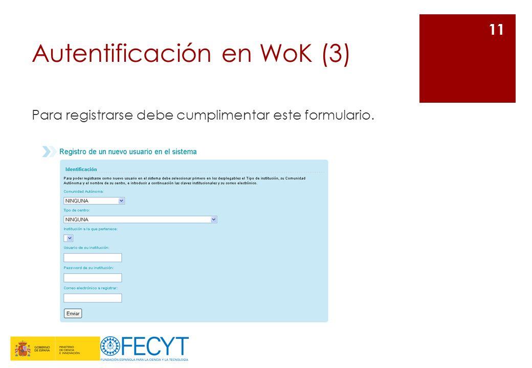 Autentificación en WoK (3)