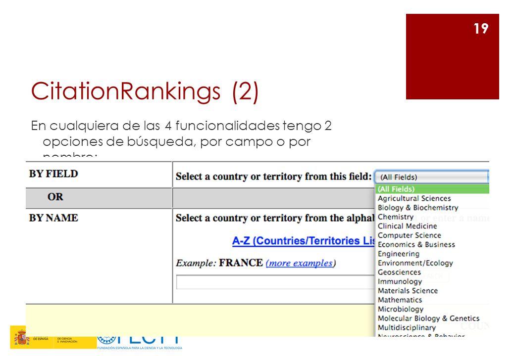 CitationRankings (2) En cualquiera de las 4 funcionalidades tengo 2 opciones de búsqueda, por campo o por nombre: