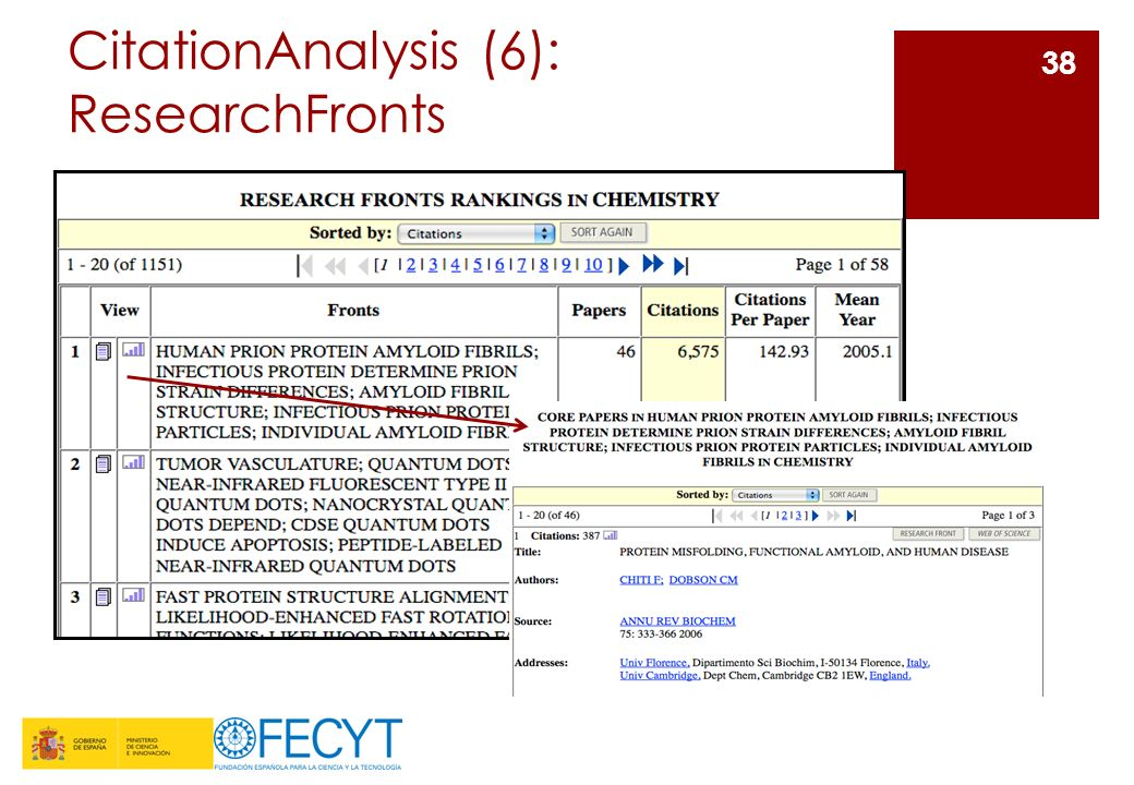 CitationAnalysis (6): ResearchFronts