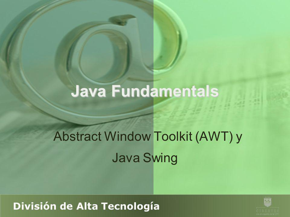 Abstract Window Toolkit (AWT) y Java Swing