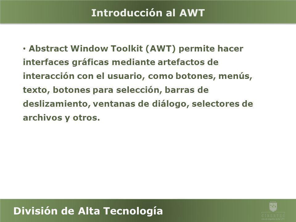Introducción al AWT