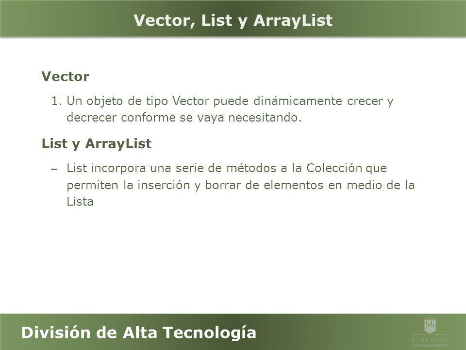 Vector, List y ArrayList