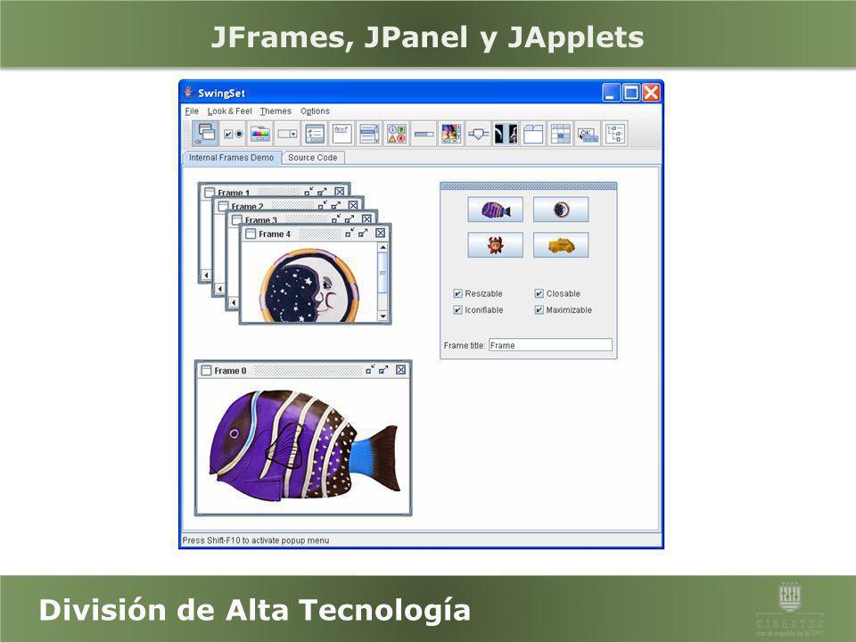 JFrames, JPanel y JApplets