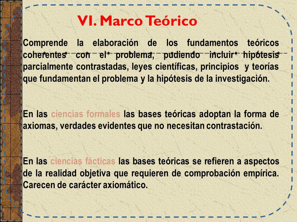 VI. Marco Teórico