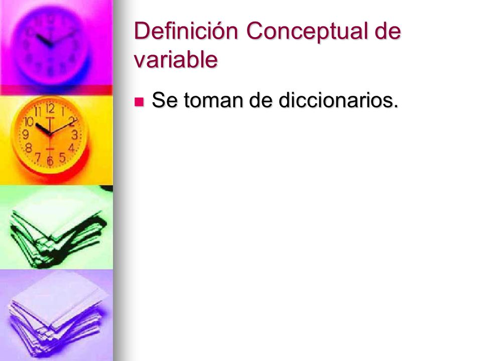 Definición Conceptual de variable
