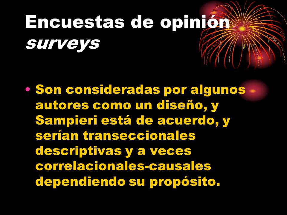 Encuestas de opinión surveys