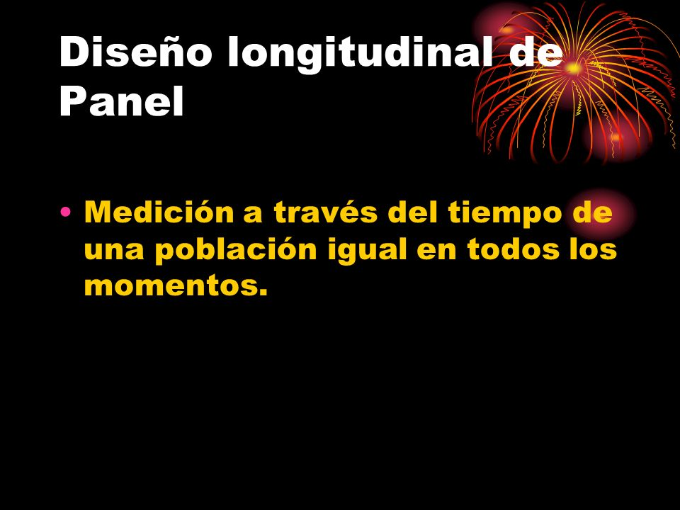Diseño longitudinal de Panel