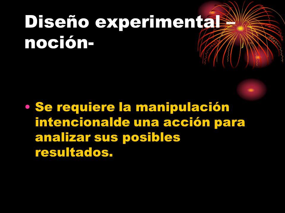 Diseño experimental –noción-