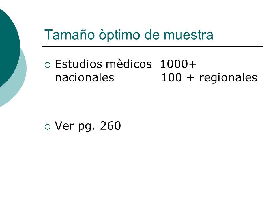 Tamaño òptimo de muestra
