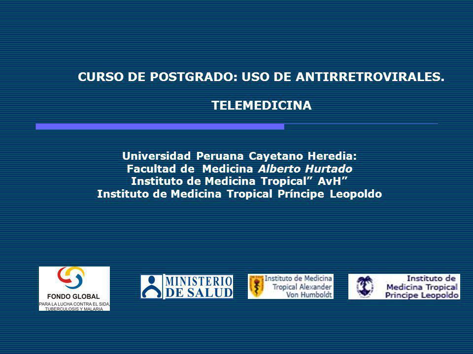 CURSO DE POSTGRADO: USO DE ANTIRRETROVIRALES. TELEMEDICINA