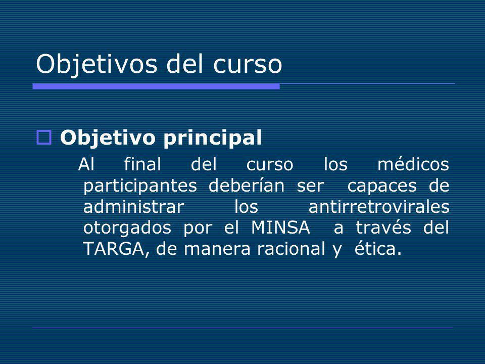 Objetivos del curso Objetivo principal