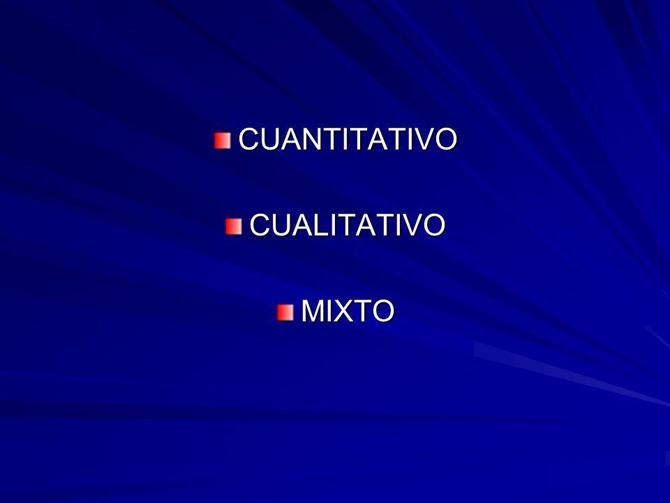 CUANTITATIVO CUALITATIVO MIXTO