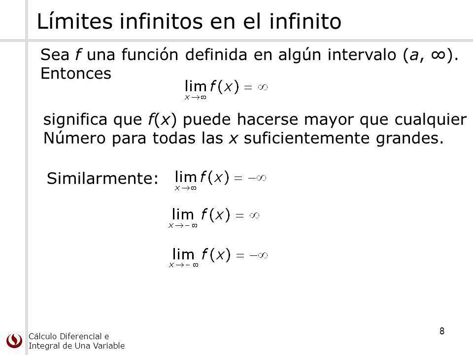 Límites infinitos en el infinito
