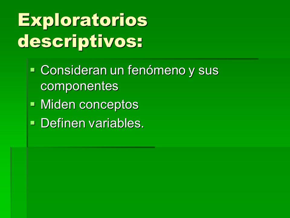 Exploratorios descriptivos: