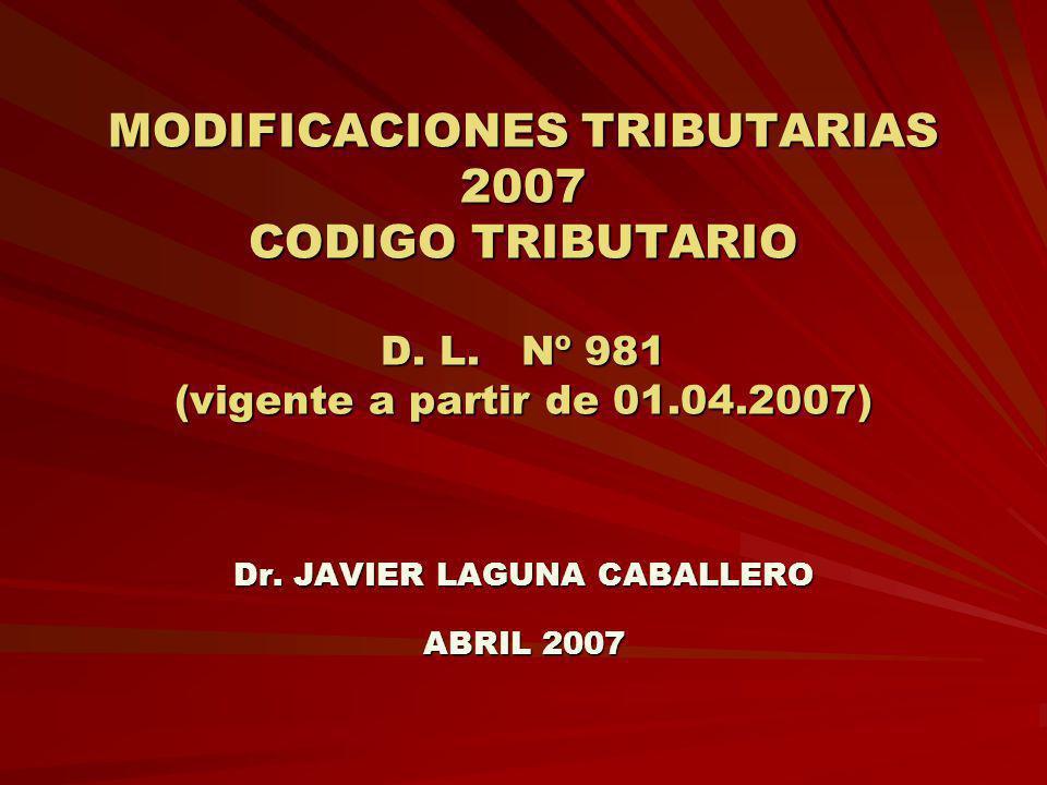 Dr. JAVIER LAGUNA CABALLERO ABRIL 2007