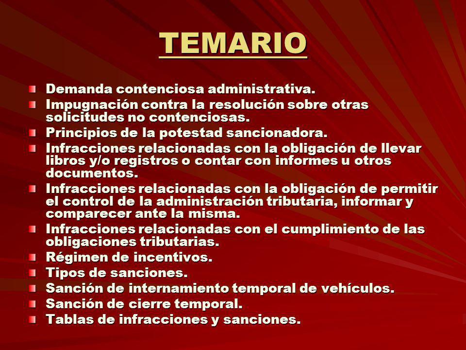 TEMARIO Demanda contenciosa administrativa.