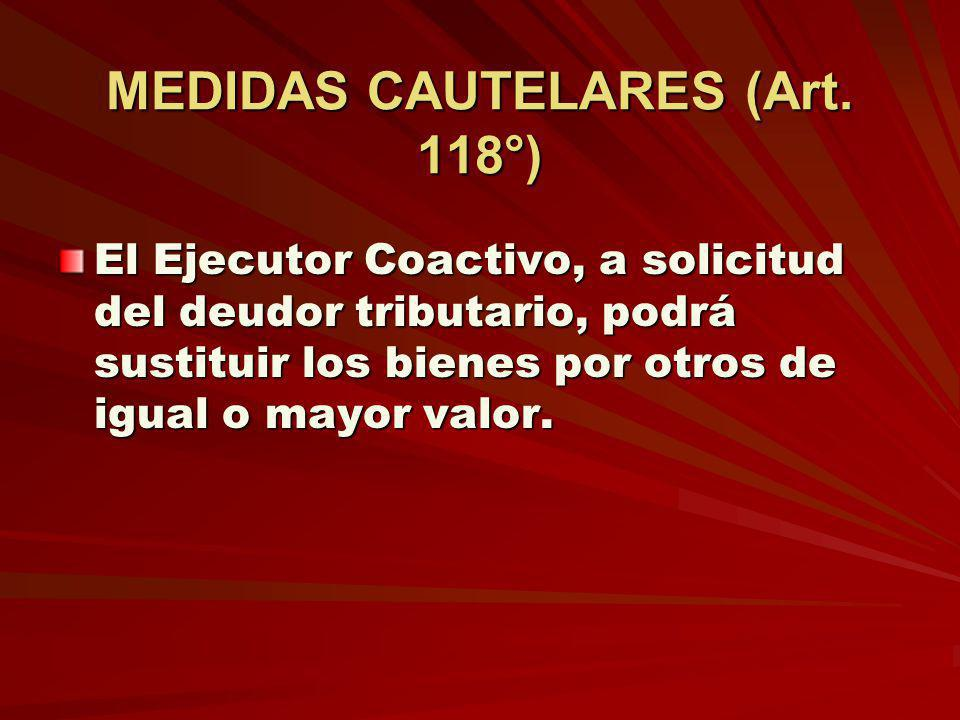 MEDIDAS CAUTELARES (Art. 118°)