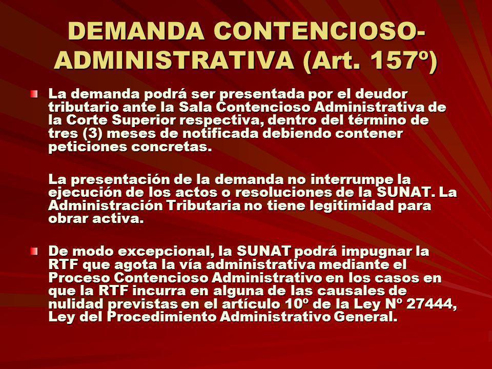 DEMANDA CONTENCIOSO-ADMINISTRATIVA (Art. 157º)