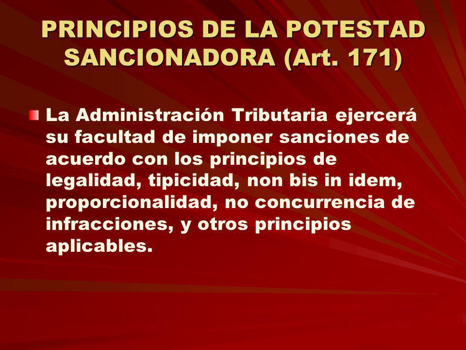 PRINCIPIOS DE LA POTESTAD SANCIONADORA (Art. 171)