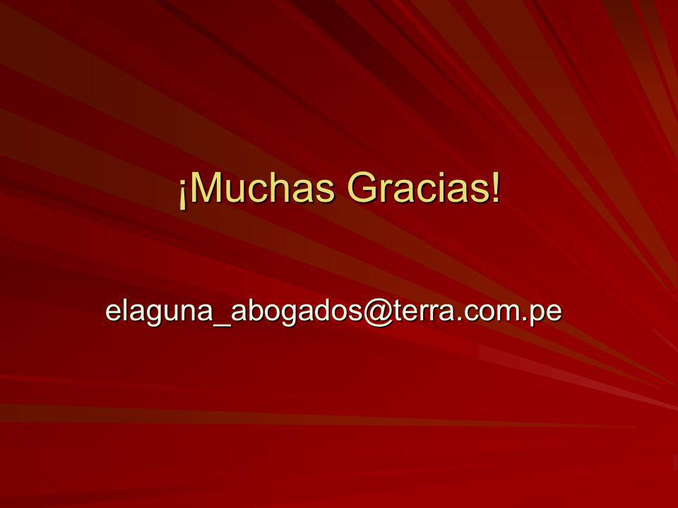 ¡Muchas Gracias! elaguna_abogados@terra.com.pe